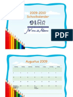 Schoolkalender JW Vd Meene 09-10