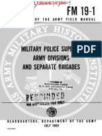 1966 Us Army Vietnam War Military Police Support Army Divisions & Separate Brigades 59p
