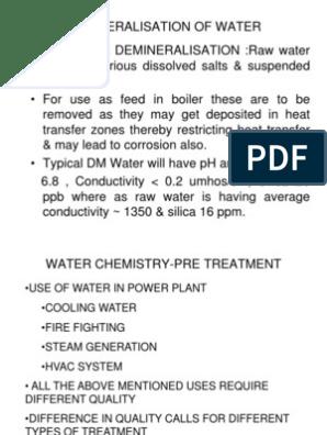 DEMINERALISATION OF WATER ppt | Membrane | Chlorine