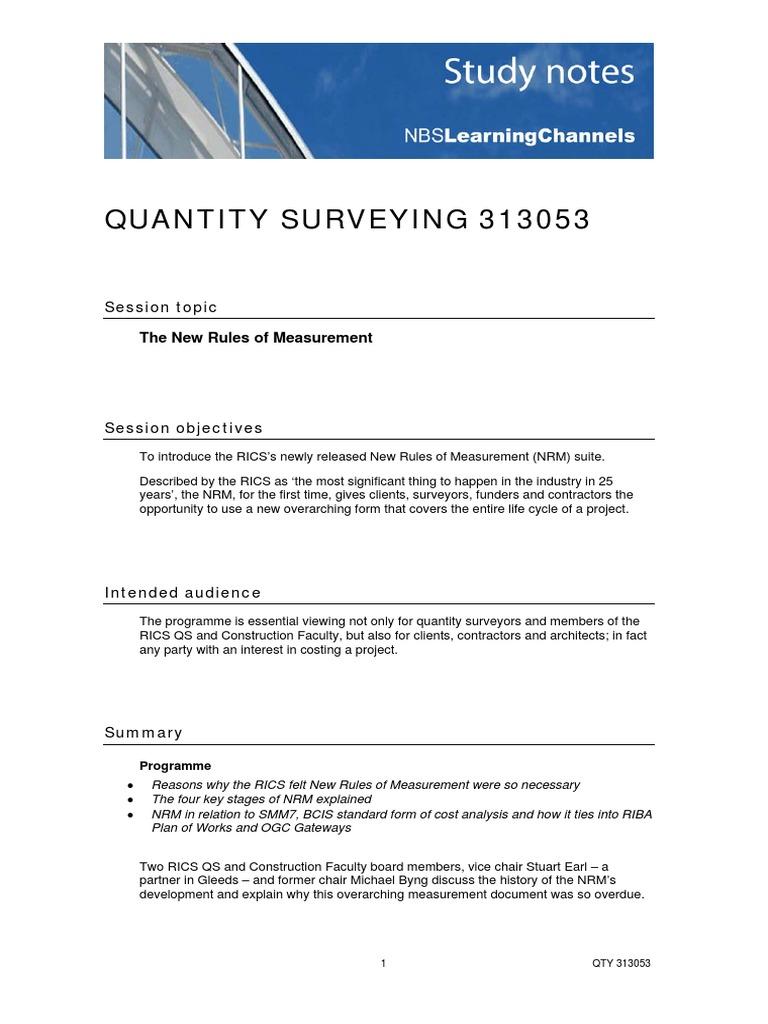 Quantity survey by bn surveying measurement falaconquin