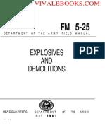 1967 US Army Vietnam War Explosives and Demolitions 187p
