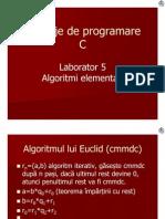 L05 Algoritmi elementari
