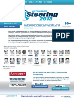 The Post Event Report of the Automotive Steering Technology 2013 conference in Berlin