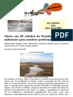 Chove em 29 cidades da Paraíba, mas não é suficiente para resolver problema da seca