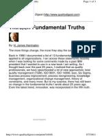 Thirteen Fundamental Truths - Harrington
