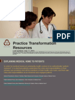 AAPCHO Practice Transformation Resources UPDATED 7.17.13