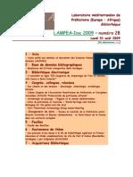 LAMPEA-Doc 2009 – numéro 28 / Lundi 31 août 2009