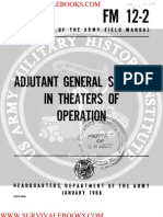 1968 US Army Vietnam War Adjutant General Support in Theaters of Operation 62p