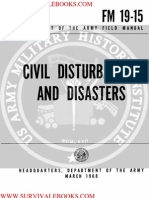 1968 US Army Vietnam War Civil Disturbances & Disasters 215p