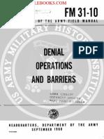 1968 US Army Vietnam War Denial Operations & Barriers 99p