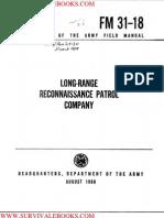 1968 US Army Vietnam War Long Range Reconnaissance Patrols 31p