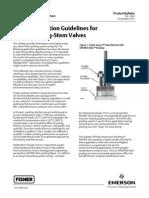 Packing Selection Guidelines for Fisher Sliding-Stem Valves