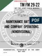 1968 US Army Vietnam War Maintenance Battalion & Company Operations 178p
