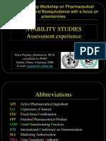 Stability Studies