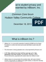 InBloom Presentation-12 18 13-Hudson Valley Community College
