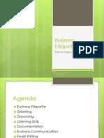 BusinessEtiquette PrernaThakur 13P100 SectionS