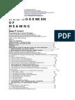 Morphogenesis of Meaning