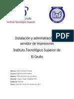 Instalación y administración de servidor de impresiones ISP