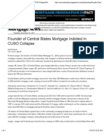 Founder of Central States Mortgage Indicted in CUSO Collapse