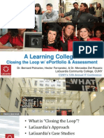 Closing the Loop - ePortfolio, Assessment and Learning at LaGuardia