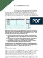 Menggunakan Fungsi if Dan VLOOKUP Pada MS Excel