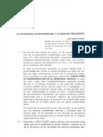 WARAT, Luis Alberto. La Universidad Latinoamericana y La Eclosion Pedagogica