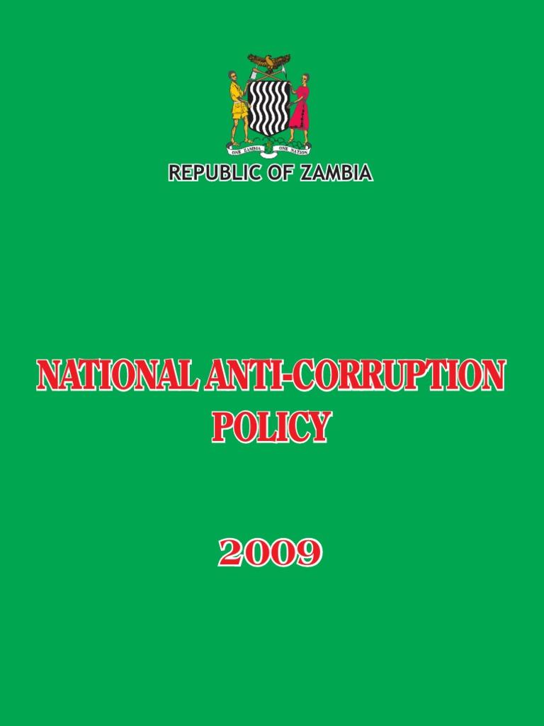 Zambia National Anti Corruption Policy | Corruption | Money Laundering