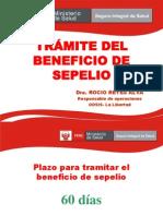 TRÁMITE DEL BENEFICIO DE SEPELIO