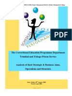 Trinidad and Tobago Prison Service Correctional Programme Department, an Analysis of their Strategic and Business Aims
