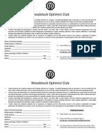 Optimist Club Photo Release Form