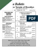 UT Bulletin September 2009