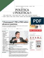 "19-12-13 ""Chamaqueó"" PRI a PRD sobre alcances"