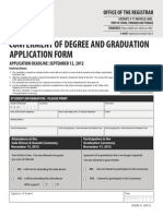 COSTAATT Graduation Application Form 2013 latest Edition