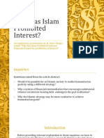 Why Has Islam Prohibited Interest