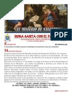 HORA SANTA CON EL PAPA. EL MISTERIO DE LA NAVIDAD
