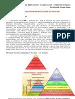 A Hierarquia Das Necessidades de MASLOW - DRI