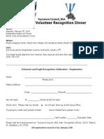 Tuscarora Council 2014 Eagle & Volunteer Reception Registration Form
