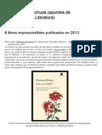 6 libros imprescindibles publicados en 2013 _ El vuelo de la lechuza (apuntes de Sociofilosofía y Literatura)