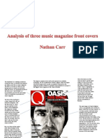 Analysis of 3 Mag Front Covers and Contents Pages and Also Double Page Spreads