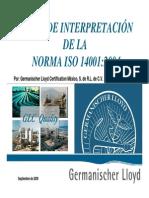Interpretacion ISO 14001