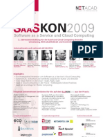 SaaSKon2009 PDF Broschüre - SaaS Kongress am 11./12. November 2009 in Stuttgart
