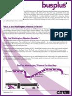 BusPlus Washington Western Corridor Fact Sheet October 2013