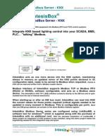 IntesisBox Modbus Server KNX Datasheet Eng