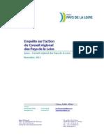 Enquête Ipsos sur l'action du Conseil régional des Pays de la Loire