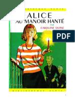 Caroline Quine Alice Roy 02 BV Alice et le manoir hanté 1930