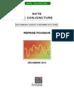 Note de conjoncture de l'Insee - décembre 2013