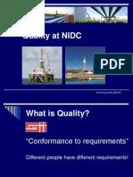 Quality @ NIDC