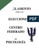 Reglamento de Elecciones Centro Federado de Psicología 2011 UNSA