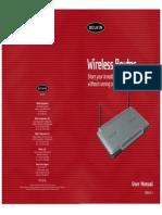 Belkin Router f5d6231-4_v2- Manual