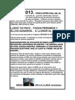 CONCLUSIÓN TODOS PERDIMOS ELLOS GANARON